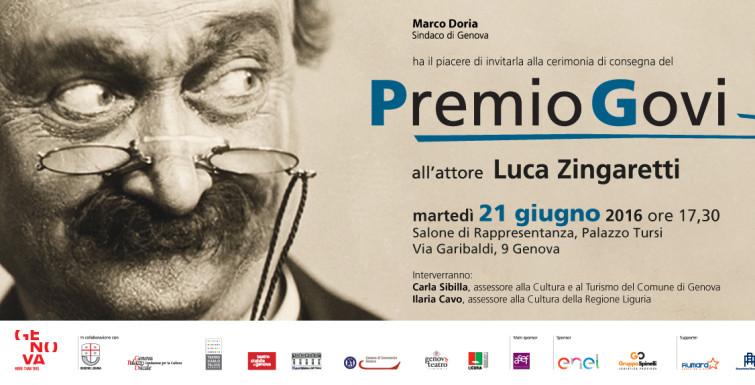 Premio Govi 2016 a Luca Zingaretti