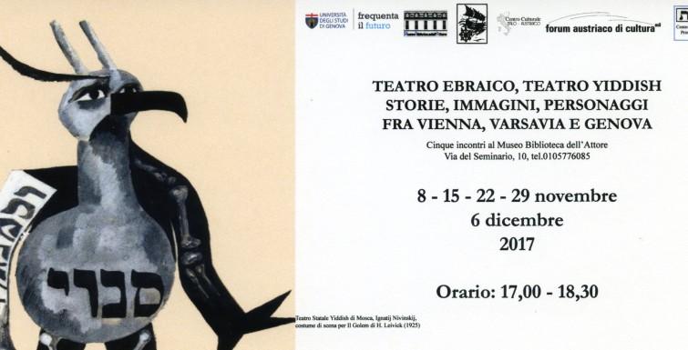 Teatro Ebraico, Teatro Yiddish fra Vienna, Varsavia e Genova