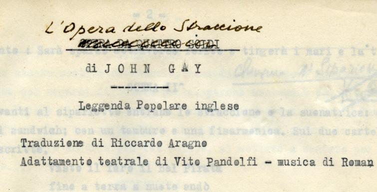 Vito Pandolfi e il mito di Brecht nell'Italia fascista